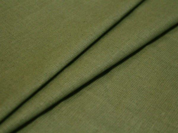 Фото 3 - Ткань льняная оливковая.