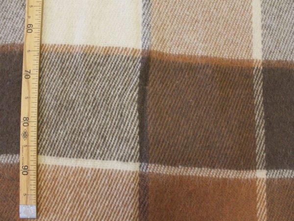 Плед 100% шерсть 140*200 терра-коричневый