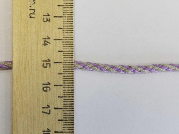 Фото 7 - Шнур отдельчный лён с сиреневым 5мм.