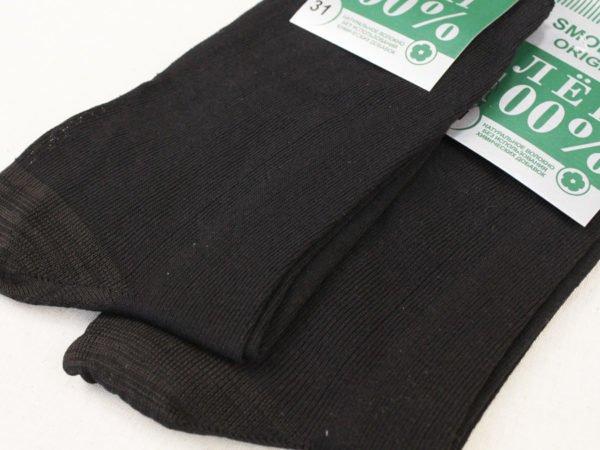 Фото 6 - Носки мужские черные лен 100% (Смоленск).