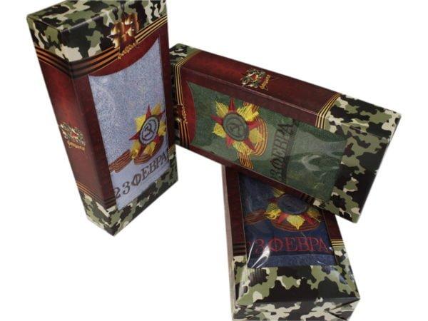 """Фото 3 - Махровое полотенце в упаковке """"Серп и молот""""."""