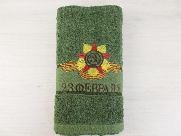 """Фото 7 - Махровое полотенце в упаковке """"Серп и молот""""."""