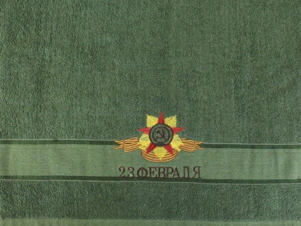 """Фото 6 - Махровое полотенце в упаковке """"Серп и молот""""."""