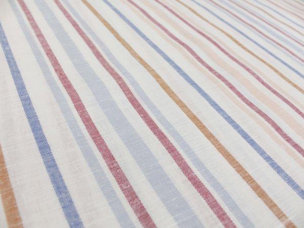 Фото 7 - Ткань  полульняная в полоску, ширина 150см.