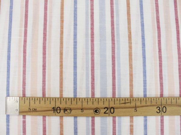 Фото 8 - Ткань  полульняная в полоску, ширина 150см.