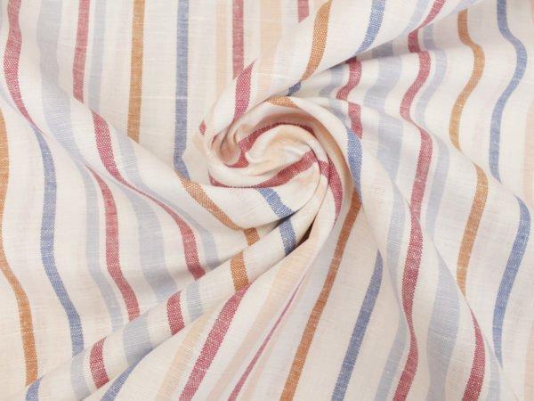Фото 5 - Ткань  полульняная в полоску, ширина 150см.