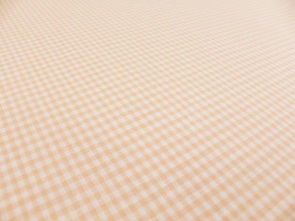 Фото 6 - Ткань льняная, мелкая розовая  клетка.