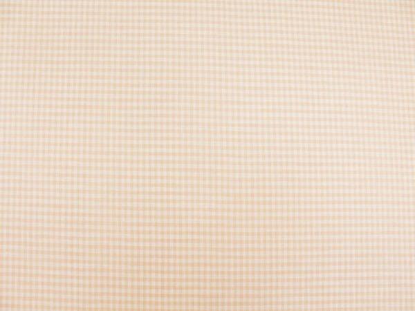 Фото 7 - Ткань льняная, мелкая розовая  клетка.