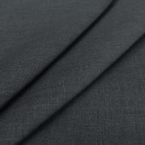 Фото 7 - Ткань льняная, ширина 260 см, лен 100% темно-серая.