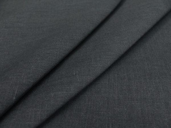Фото 3 - Ткань льняная, ширина 260 см, лен 100% темно-серая.