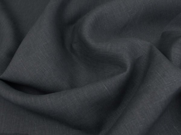 Фото 6 - Ткань скатертная, темно-серая, лен 100%.