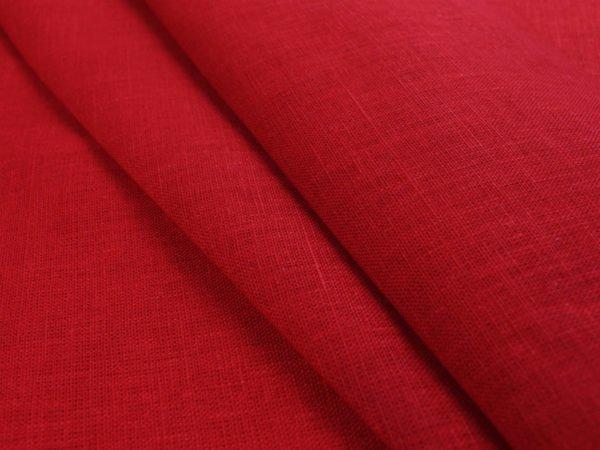 Фото 3 - Ткань льняная плотная,  лен 100%, красная.