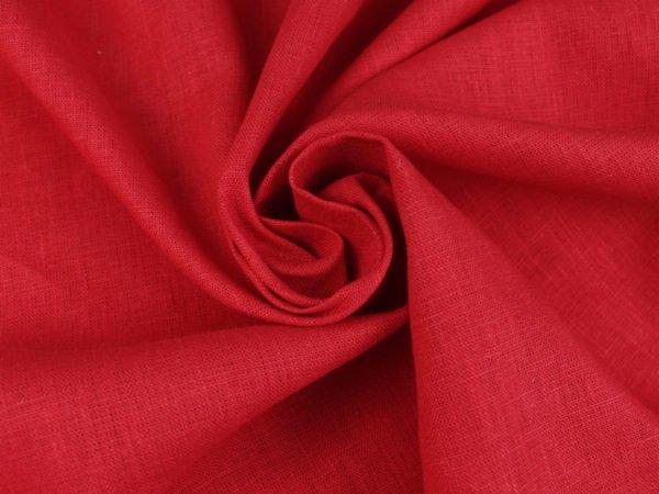 Фото 8 - Ткань льняная плотная,  лен 100%, красная.