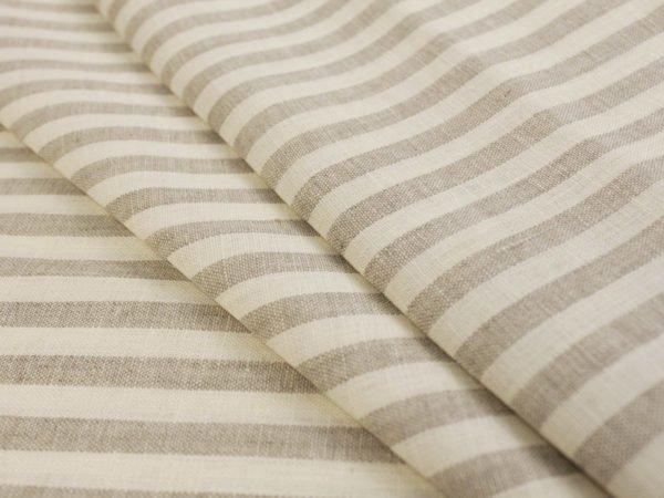 Льняная ткань в полоску лен 100%