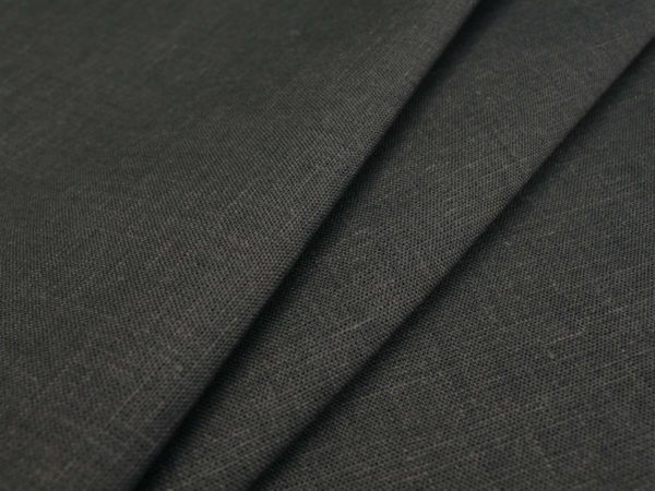 Фото 3 - Ткань скатертная, темно-серая, лен 100%.