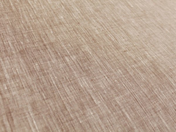 Фото 6 - Льняная ткань  светло-коричневая, меланж , ширина 2.6м лен 100%.