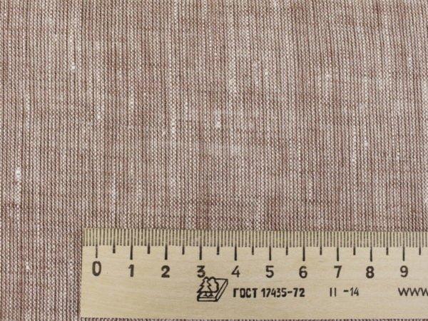 Фото 5 - Льняная ткань  светло-коричневая, меланж , ширина 2.6м лен 100%.