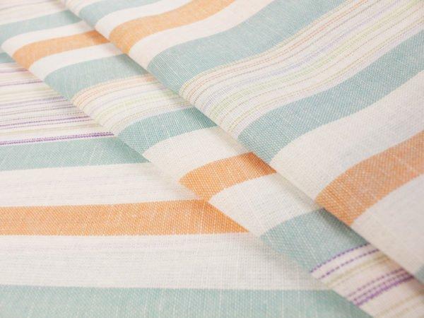 Фото 3 - Льняная ткань для постельного белья шир 1.8м в полоску.