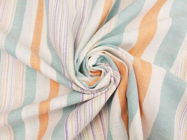 Фото 5 - Льняная ткань для постельного белья шир 1.8м в полоску.