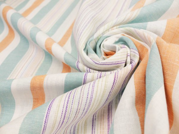 Фото 11 - Льняная ткань для постельного белья шир 1.8м в полоску.