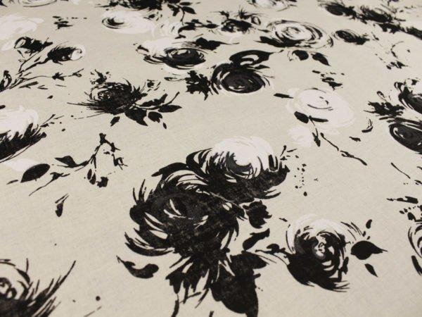 """Фото 7 - Ткань льняная """"Черные розы""""."""