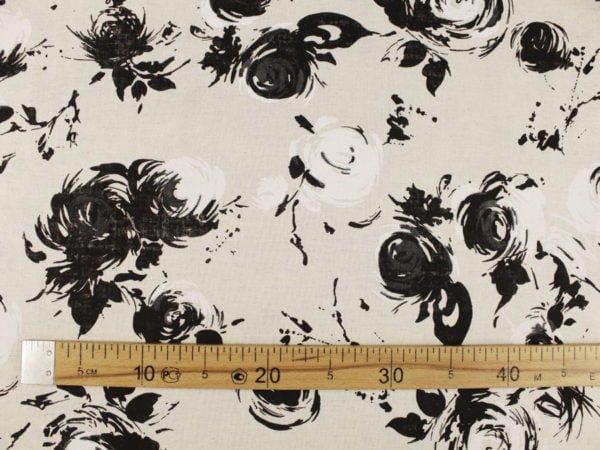 """Фото 6 - Ткань льняная """"Черные розы""""."""