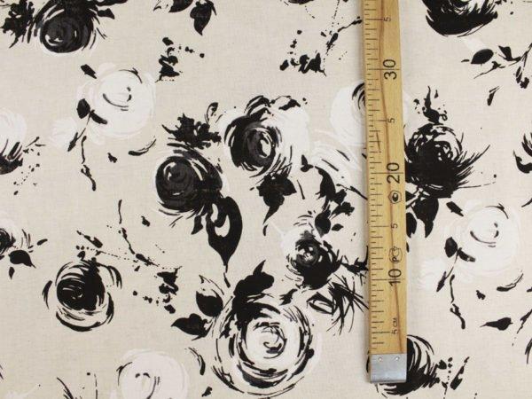"""Фото 9 - Ткань льняная """"Черные розы""""."""