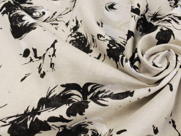 """Фото 5 - Ткань льняная """"Черные розы""""."""