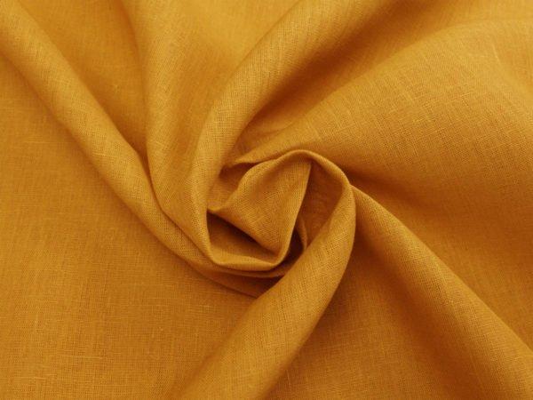 Фото 5 - Ткань для постельного белья, ширина 2.6 м, лен-100% цвет карри.