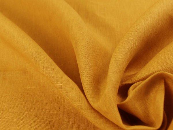 Фото 9 - Ткань для постельного белья, ширина 2.6 м, лен-100% цвет карри.