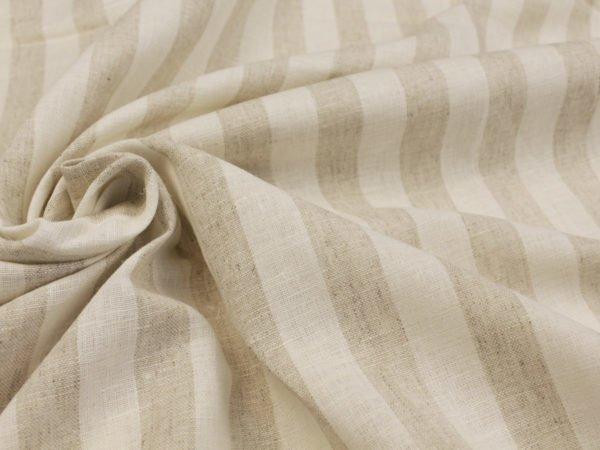 Льняная ткань в широкую полоску ширина 220 см