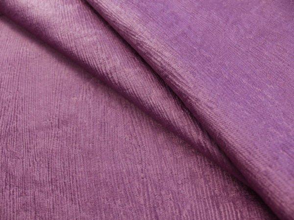 Фото 3 - Ткань портьерная блэкаут сиреневая (имитация дерева).