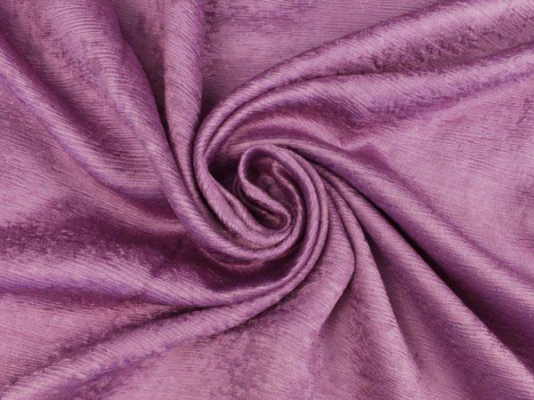 Фото 5 - Ткань портьерная блэкаут сиреневая (имитация дерева).