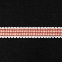 Фото 20 - Лента декоративная 25мм, клетка красный/белый.