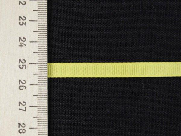 Фото 5 - Лента  репсовая 6 мм  желтый.