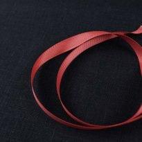 Фото 19 - Лента  репсовая 10 мм  красный.