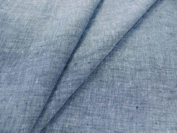 Фото 4 - Ткань льняная костюмная меланжевая.