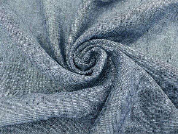 Фото 3 - Ткань льняная костюмная меланжевая.