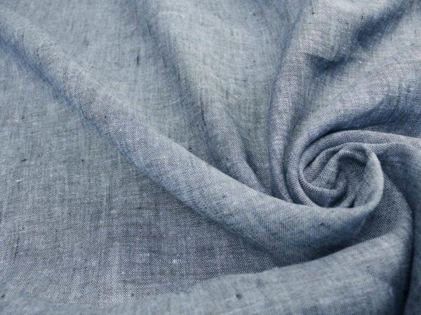 Фото 5 - Ткань льняная костюмная меланжевая.