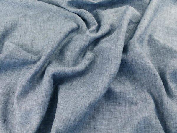 Фото 7 - Ткань льняная костюмная меланжевая.