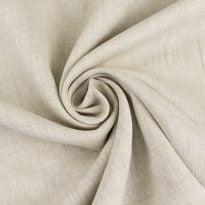 Ткань льняная сорочечная цвета небеленого льна
