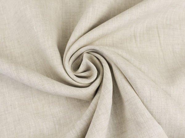 Фото 3 - Ткань льняная сорочечная цвета небеленого льна.