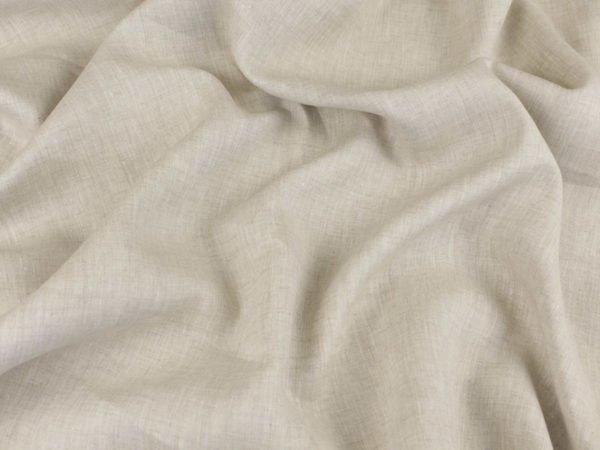 Фото 4 - Ткань льняная сорочечная цвета небеленого льна.