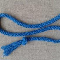 Фото 9 - Шнур, D-7мм, х/б 100%, синий.