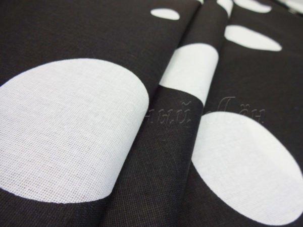"""Фото 3 - Бязь плательная """"Крупный белый горох"""" на чёрном."""