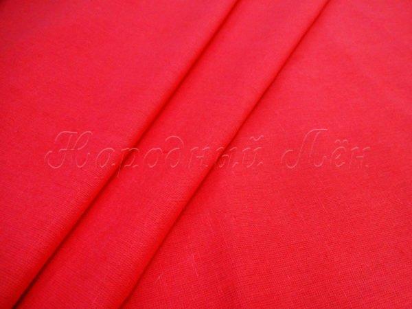 Фото 3 - Бязь   цвет  красный насыщенный.