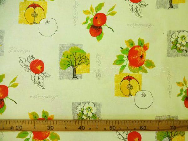 """Фото 6 - Ткань  для  столового белья   набивная """"Яблоки""""."""