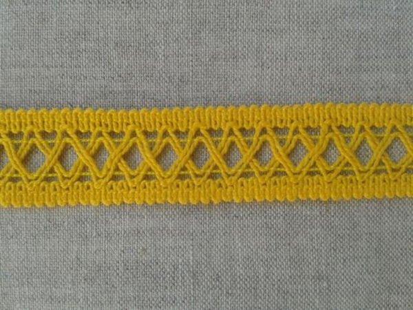 Тесьма отделочная 18 мм, желтая