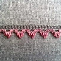 Фото 20 - ТЕСЬМА ОТДЕЛОЧНАЯ лен с розовым 14мм.