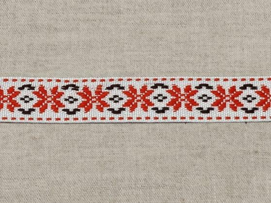 ЛЕНТА ОТДЕЛОЧНАЯ белый с красным 20мм